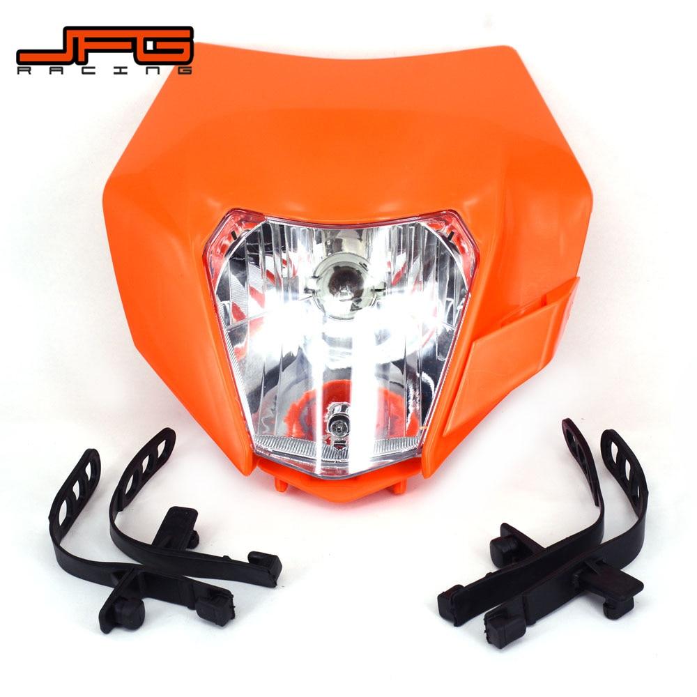 Motorcycle 2018 Universal Headlight Headlamp Head Light For KTM EXC EXCF SX XC XCW MX SMR SXS 125 250 350 450 500 505 520 530