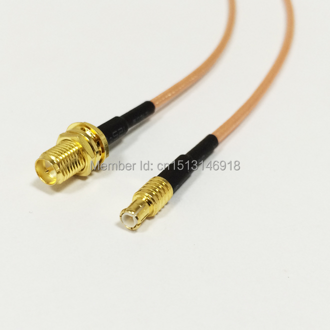 "1PC New RP-SMA Female To MCX Male Straight RG316 Coaxial Cable 15CM 6"" Adapter Pigtail Wire Connector(China)"