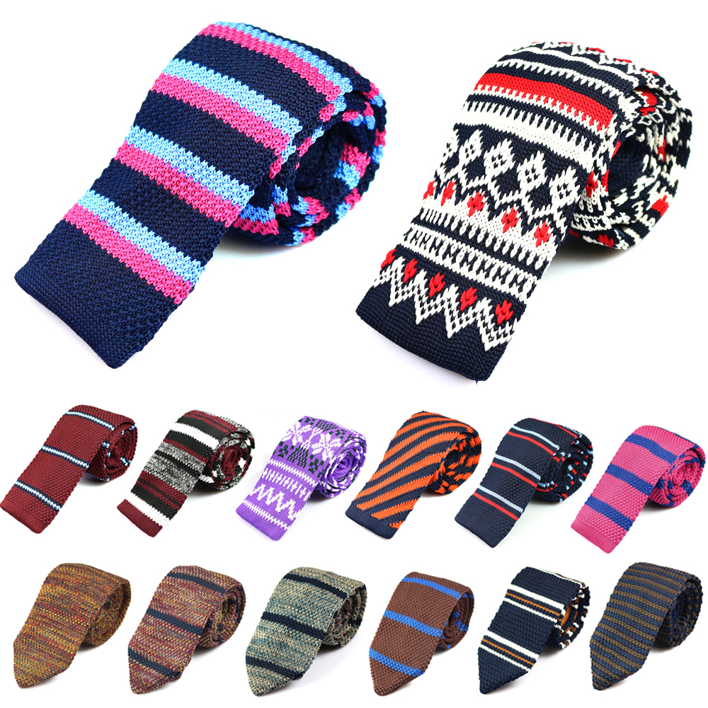 Striped Knitted Ties Knit Neck Ties For Men Women Suits Knitted Neckties Leisure Gravatas Business Casual Skinny Mens Tie