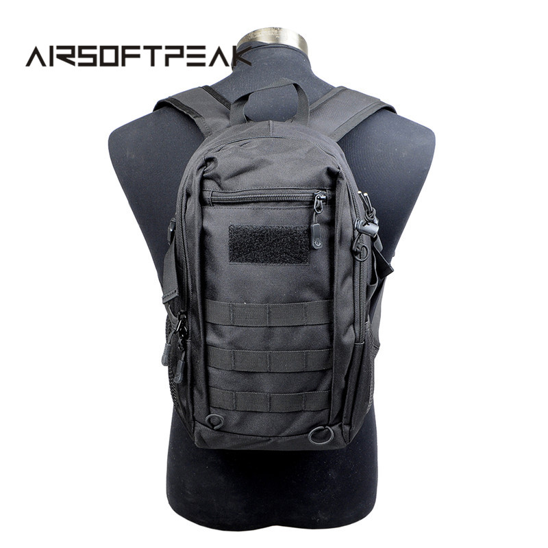 AIRSOFTPEAK 12L Military Tactical Assault Pack Backpack Army Molle Waterproof Bug Out <font><b>Bag</b></font> Small Rucksack For <font><b>Outdoor</b></font> Hiking