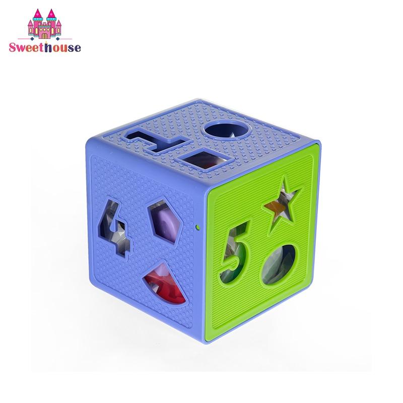 Baby Shape Sorting Cube pentru copiii mici Forma de potrivire a - Învățare și educație