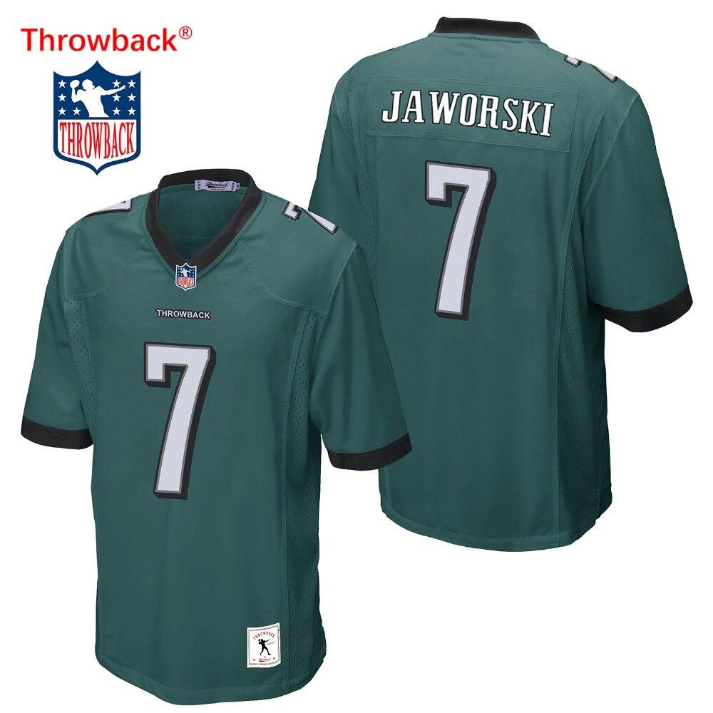 c0ea5b002ecae Salto Jersey hombre Jersey de Filadelfia Camisetas fútbol americano  Jaworski Jersey tamaño S-XXXL Color negro envío gratis barato - Blog Store