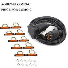 AOHEWEI 12V 6 meter gerade kabel draht 7 pin kern kunststoff anhänger steckdose stecker adapter 12v 6led auto seite marker licht
