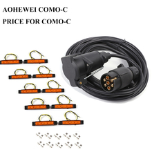 AOHEWEI 12V 6 meter straight cable wire 7 pin core plastic trailer plug socket connector adapter 12v 6led auto side marker light