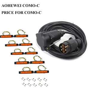 Image 1 - AOHEWEI 12V 6 meter straight cable wire 7 pin core plastic trailer plug socket connector adapter 12v 6led auto side marker light