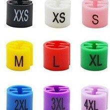 100 размер кубиков для одежды маркер пакет для вешалки Размер дисплея оптом