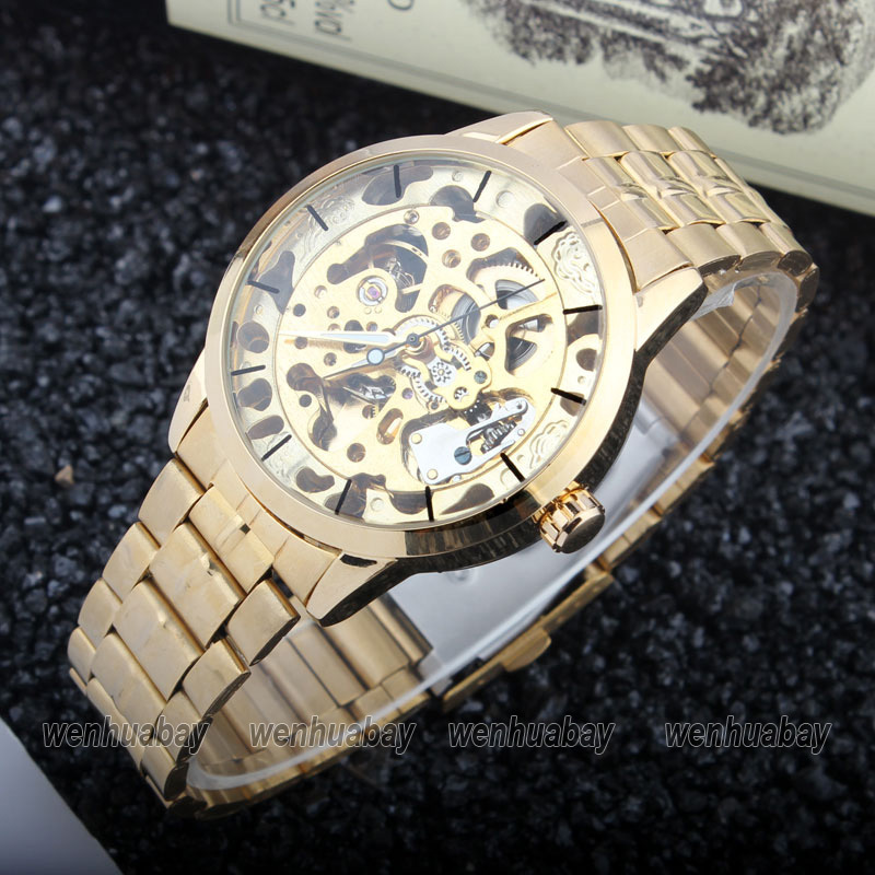 Image 2 - Luxury Style Mens Women Lady Unisex Automatic Mechanical Self Wind Wrist Watch Stainless Steel Skeleton Time Gift M103gift giftsgift womengift men -
