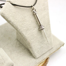 Supernatural Angel Sword Dagger High Quality Vintage Rope Leather Necklace Classic Teleplay Women And Men Pendant Necklace Gifts(China)