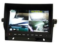 Accfly цветной tft 7 дюймов ЖК монитор автомобиля цифровой Сплит Quad для камеры заднего вида Грузовик Автобус экскаватор поддержка sd карты