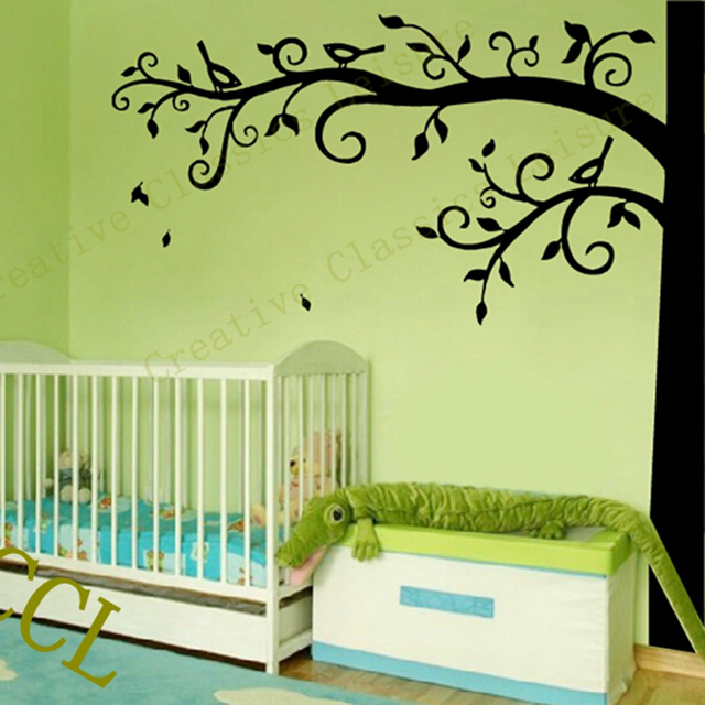 Corner Tree Wall Decal Nursery Wall Decoration , Extra Large Tree Wall  Sticker Photo Hanging Tree