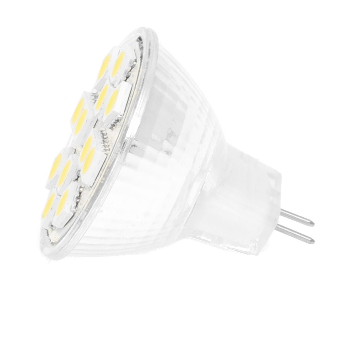 2W MR11 GU4 120-144LM LED Bulb 12 5050 SMD White Lamp