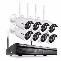 ANNKE 8CH CCTV System Wireless 720P NVR 8PCS 1 0MP IR Outdoor P2P Wifi IP CCTV