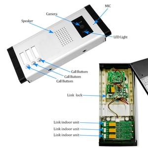 Image 3 - Kablolu 4.3 Video interkom sistemi diyafon Kamera ile kapı zili renkli Video kapı telefonu 3 Monitörler Çok Daireler/ev