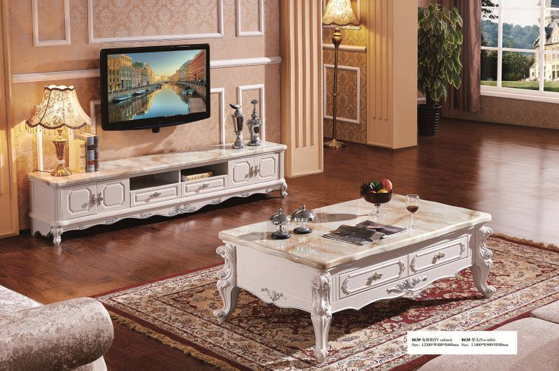 2016 Real Promotion Antique No Cam Sehpalar Side Table Living Room  Furniture Classic Wooden Coffee Table With Marble Desktop  In Coffee Tables  From ...