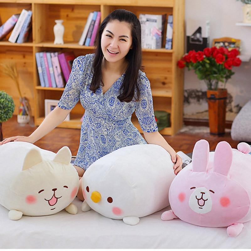 Biggest 60cm children doll Cute Japanese Chicken Pillow Doll Plush Toy soft Doll Children Toys Gift