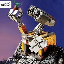 Mylb HEIßER 687 Stücke Idee Roboter WALL E Bausteine Bricks Blöcke Spielzeug für Kinder WALL-E Geburtstag Geschenke drop shipping