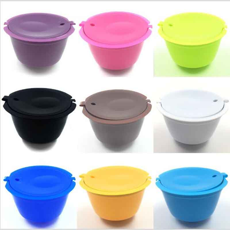 1Pcs 9 Colors Reusable Dolce Gusto Coffee Capsule,Plastic Refillable Compatible Dolce Gusto Coffee Filter Baskets Capsules