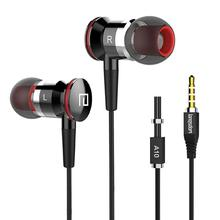 лучшая цена Langsdom A10 Earphone In-Ear Earbuds For Phone Wired Earphones With Microphone Fone De Ouvido For Samsung iPhone  Xiaomi