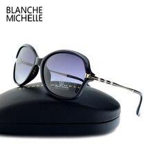 Nova moda óculos de sol feminino polarizado uv400 lente gradiente óculos de sol mulher vintage óculos de sol 2020 com caixa