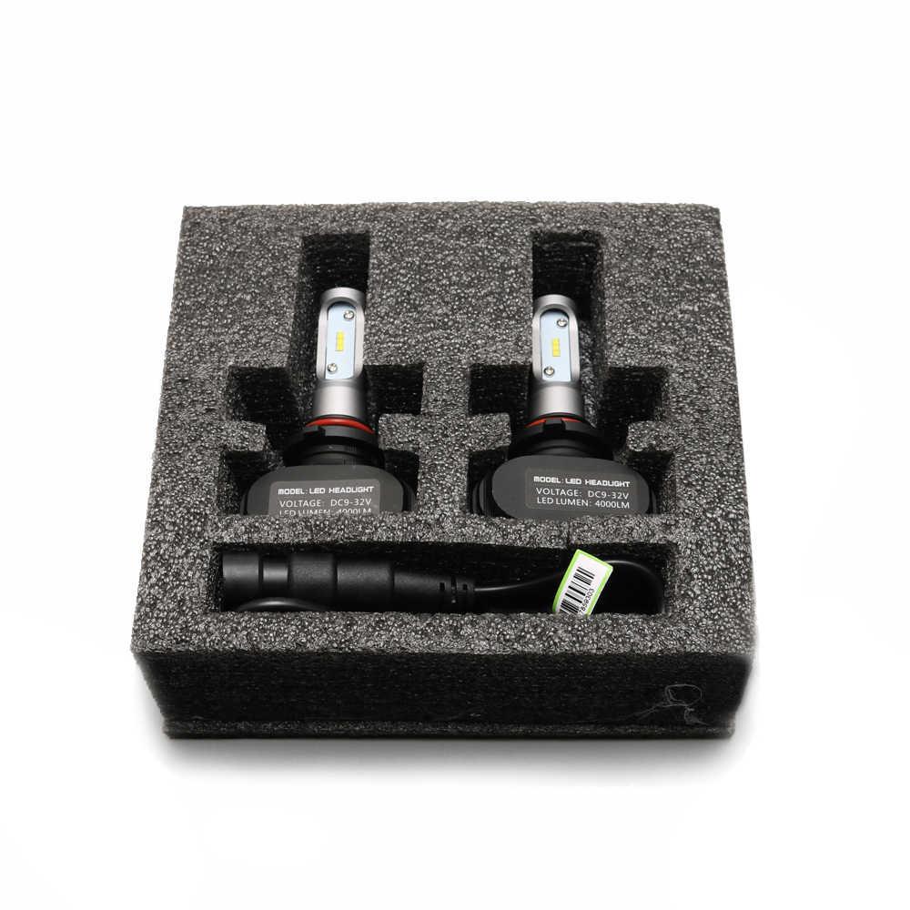 Xenplus 2 pièces H4 Led 12 V Voiture phares Hi-Lo Faisceau Unique S1 H11 H8 H9 H7 H1 HB3 HB4 9012 6500 k 50 W SÉOUL Y19 Puces Auto ampoules
