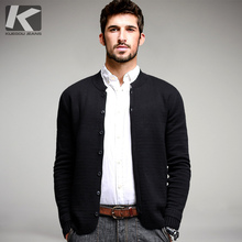 Autumn Mens Sweaters Male Winter Button Cardigan Man's Black Solid Knitwear Slim Fit Brand Clothing SweaterCoats