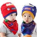 Cartoon Baby Boy Hat Cotton Bibs set Spring Autumn Winter Baby Girl Hat Kids Cap Beanies 0-3Y Children enfants bonnet