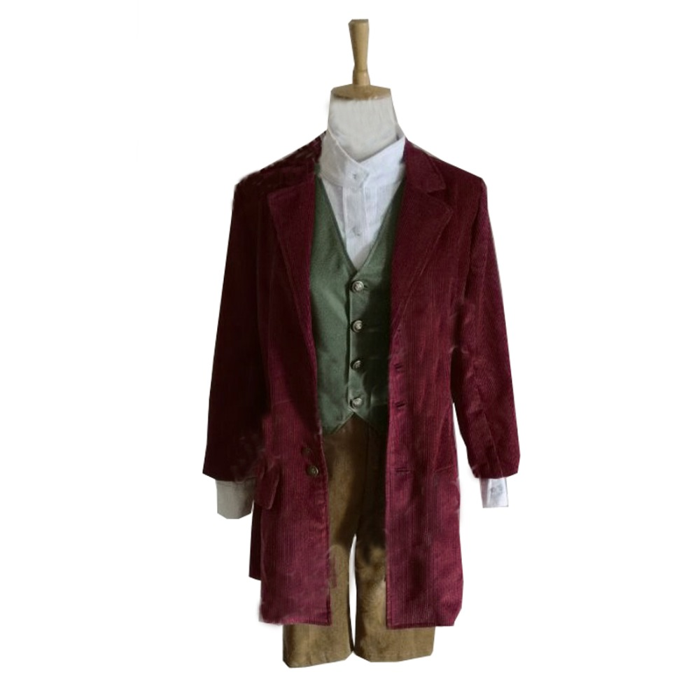 2018 The Hobbit Lord Of The Rings Bilbo Baggins Cosplay Costume-in Movie & TV costumes from Novelty & Special Use    1