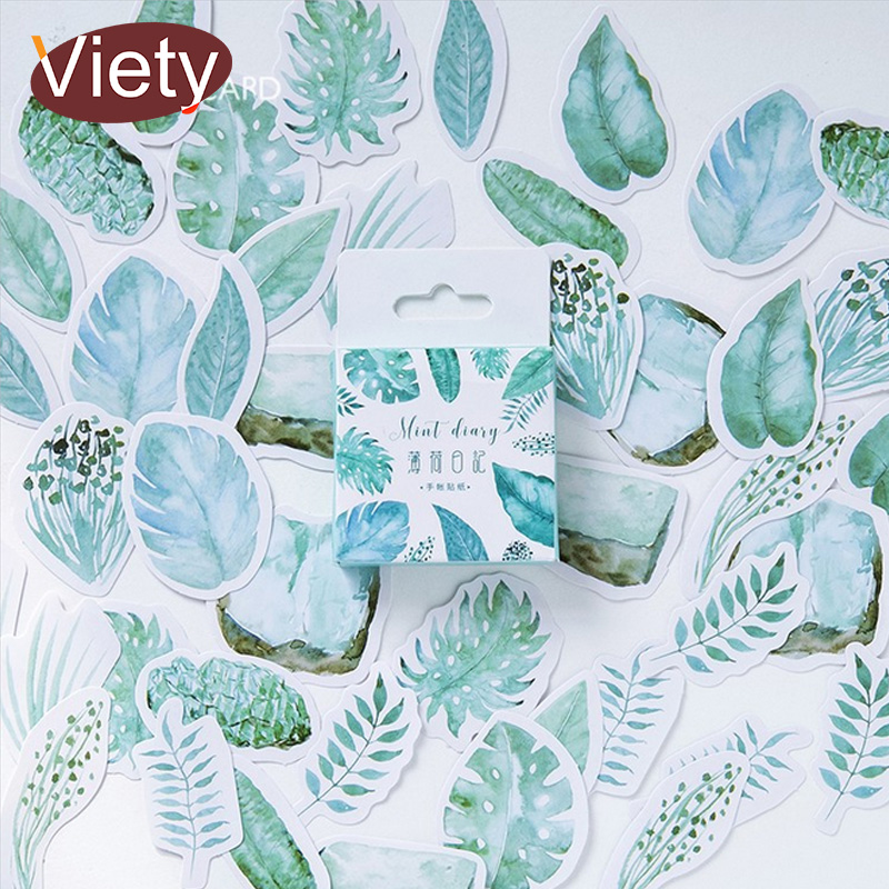 45 Pcs/lot Plants Green Leaves Mini Paper Sticker Decoration DIY Ablum Diary Scrapbooking Label Sticker Kawaii Stationery