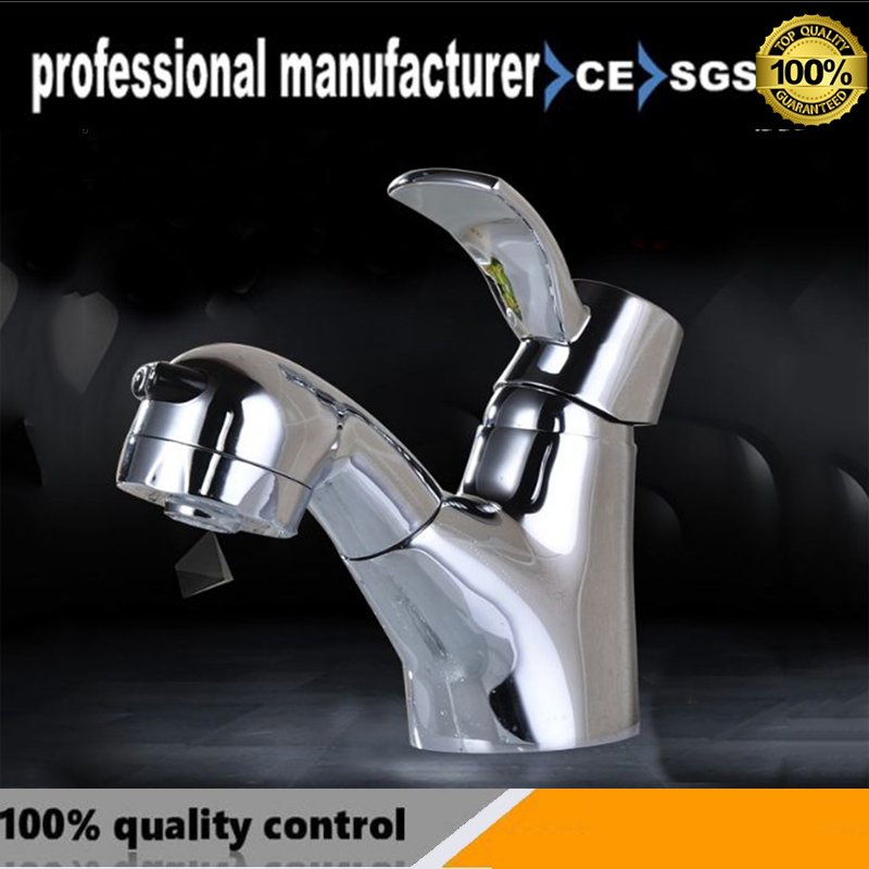 The new copper foreign trade pull cold and hot mixed water basin faucet single hole wash basin faucet and fast delivery спортивная футболка foreign trade and exports ni ke