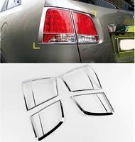 ABS Chrome Tail Light Cover Trims For Kia Sorento 2010 2011 4PCS