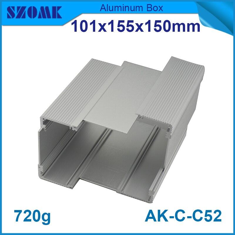 10 pieces distribution box circuit breaker metal box enclosure extruded aluminum enclosures electronics 101 155 150mm