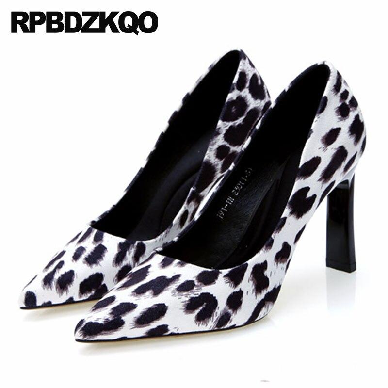 luxury leopard print high heels ladies