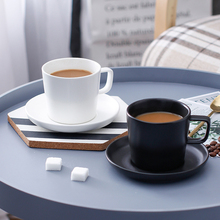 Simple black and white ceramic cup European coffee Britsh afternoon tea mug latte couple birthday gifts