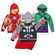Kids Boys Coat Jacket Superhero Avengers Hulk Ironman Captain America Thor Cosplay Hoodie Long Sleeves Spring Autumn