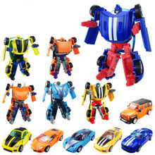 WEYA New 1PC Mini Transformation Kids Classic Robot Cars Toys For Children Action Toy Figures Kids