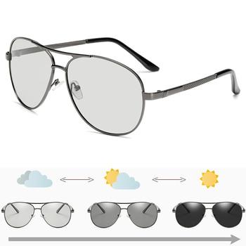Photochromic Sunglasses Men Pilot Polarized UV400 Day and Night Vision Driving Chameleon Sun Glasses Women Discoloration Goggles