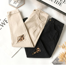 JUJULAND Harlan jeans  High Waist Female Boyfriend Jeans with a tight waist Denim Ripped Jean Woman Plus Size677 plus tie waist ripped jeans