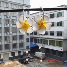 accessories earring  frangipani colors in Hawaii flower Wholesale -hot new pearl ear pin girls earrings frangipane foam