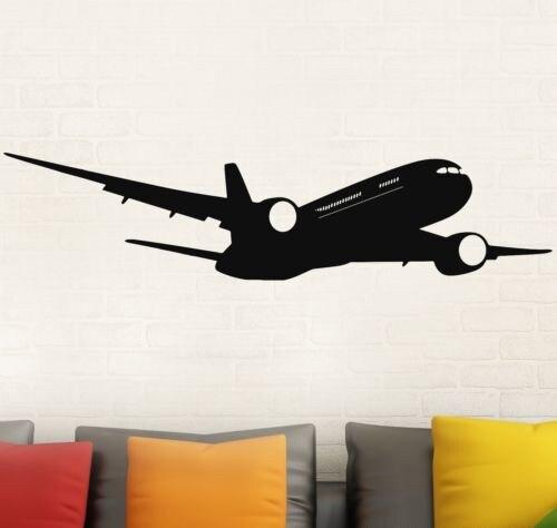 Calcomanía moderna de pared de Boeing de avión extraíble calcomanías para decoración del hogar pegatina de pared de calidad GW-51 3D DIY pegatinas de acrílico para pared marco de foto extraíble vinilos decorativos de pared de árbol carteles flores adhesivas para pared arte mural imagen decoración del hogar