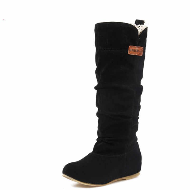 Swyivy inverno botas femininas cunha booties mulher 2019 novas botas de neve para sapatos de inverno das mulheres quente de pelúcia pele cunha sapatos mulher