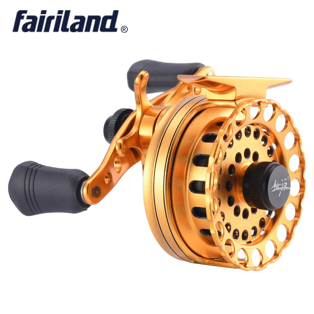 aluminum raft fishing reel 6.5cm/2.6in 5BB gear ratio 2.6:1 Raft wheel Left/Right hand smooth and balanced casting fly ice reel