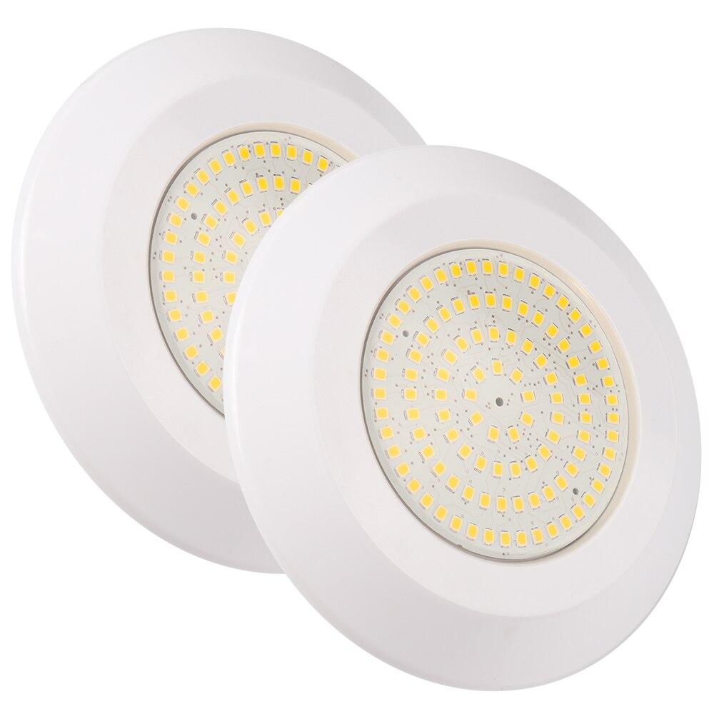 (2pcs/Lot) Underwater Lamp Resin Filled Waterproof Pool Light DC12V 12W White/Warm White Swimming Pool LED Spotlight