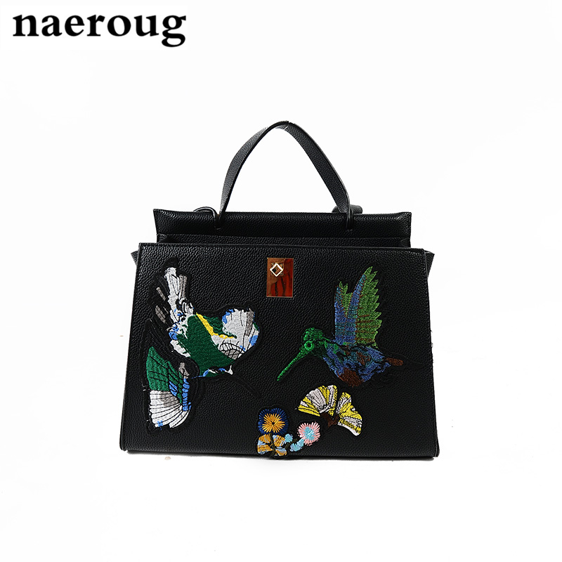 ФОТО Retro Embroidery Designer Bags Famous Brand Women Leather Bags 2017 Luxury Fashion Messenger Bags Animal Floral Print Handbags