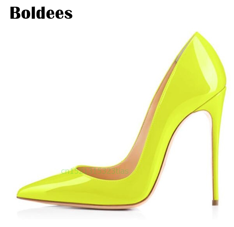 801b0d70ff Discount Thin High Heel Shoes Woman Stilettos Pointed Toe Patent Leather  Shoes 4.7 inch Plus Big Size 13 / 45