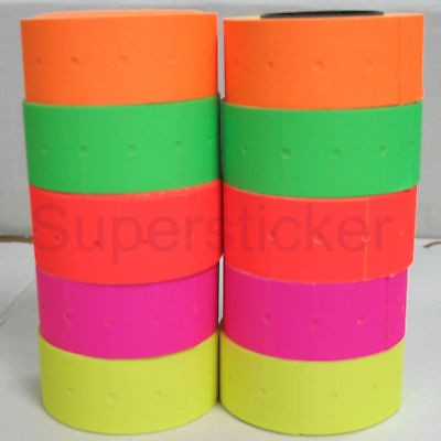 [ Fly Eagle ] 5 colors 10 Rolls X 500 Tags labels Refill for Motex MX-813