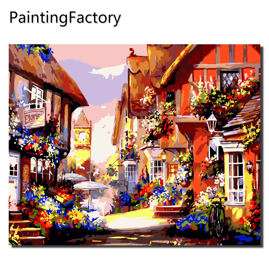 Aliexpress.com : Buy DIY Painting By Numbers Country house ...