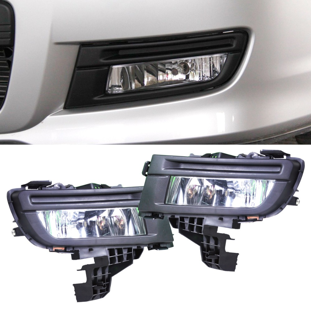 CITALL 2pcs Front Left + Right Side Fog Light Lamp Replacement Kit 9006 12V 51W for Mazda 3 2007 2008 2009 Size 29cm x 12cm free shipping for vw polo 2005 2006 2007 2008 new front left side halogen fog light fog light with bulb