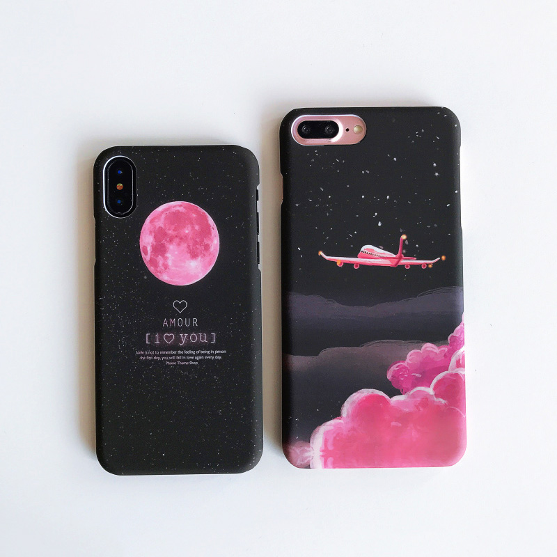 KIP7P1253C_1_JONSNOW Phone Case For iPhone 6 6S 7 8 Plus Earth Planet Starry Sky Patterns PC Hard Case for iPhone X XR XS Max Back Cover Capa Fundas