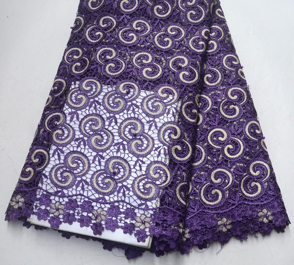 Latest High Quality Nigeria  Design Purple Guipure lace For Men Nigeria Wedding purple guipure lace FabricsLatest High Quality Nigeria  Design Purple Guipure lace For Men Nigeria Wedding purple guipure lace Fabrics
