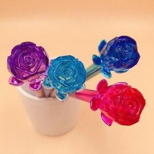 Image 5 - 40 teile/los Kristall rose blume diamant gel stift Korea kreative wasser tinte stift zeichen stift mädchen dame party geschenk schreiben stift